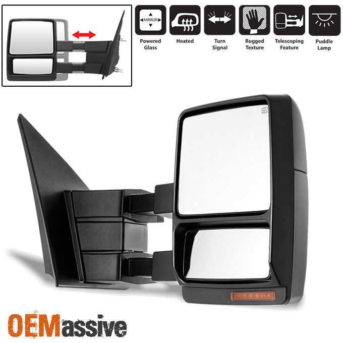 2007 14 ford f150 passenger right side extendable led signal power towing mirror ebay. Black Bedroom Furniture Sets. Home Design Ideas