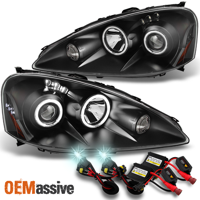 2005 2006 Rsx Integra Dc5 Black Ccfl Halo Led Projector