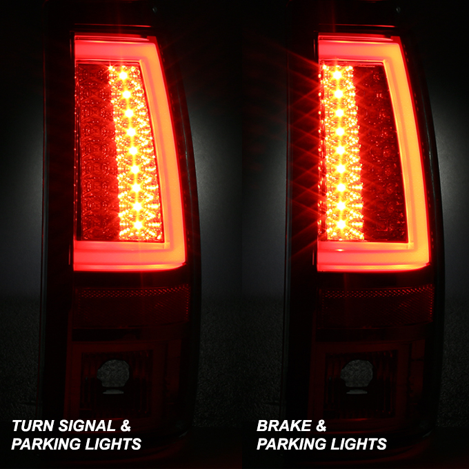 2003 Tahoe Tail Lights 2003-2006 Chevy Silverado GMC Sierra 1500 2500HD 3500 ...