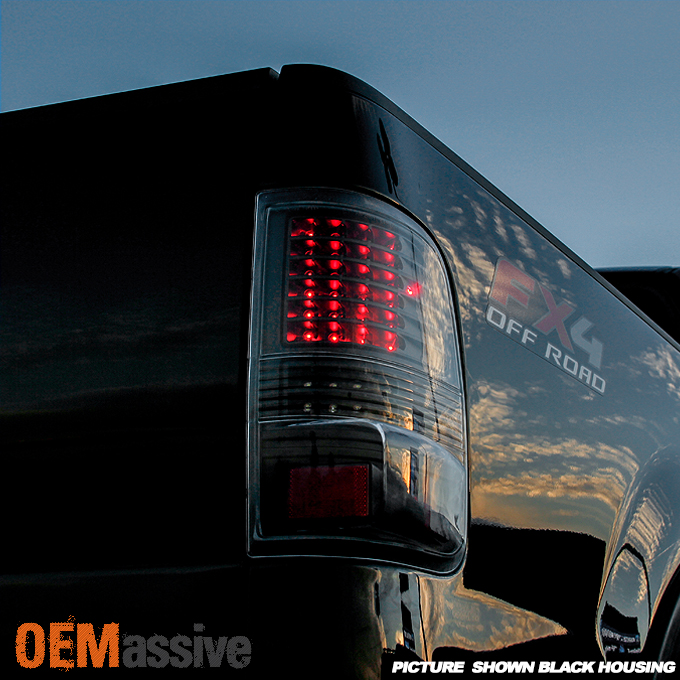 2005 2006 2007 2008 ford f150 full led smoked tail lights tail lamps. Black Bedroom Furniture Sets. Home Design Ideas