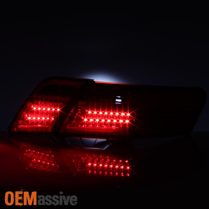 2007 2008 2009 toyota camry 4pcs red led signal tail lights pair brake lamps set cad. Black Bedroom Furniture Sets. Home Design Ideas