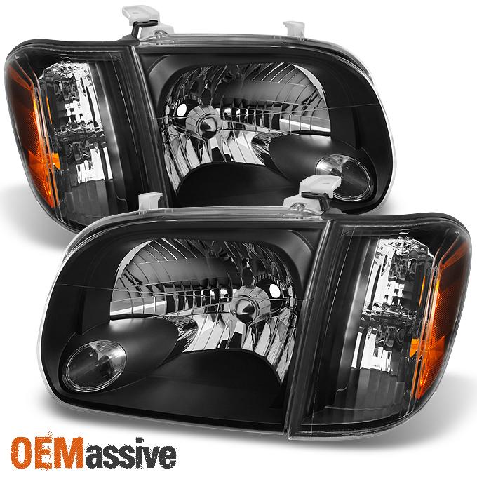 05 Toyota Tundra: 05-06 Tundra Double Cab Black Headlights W/ Corner Light