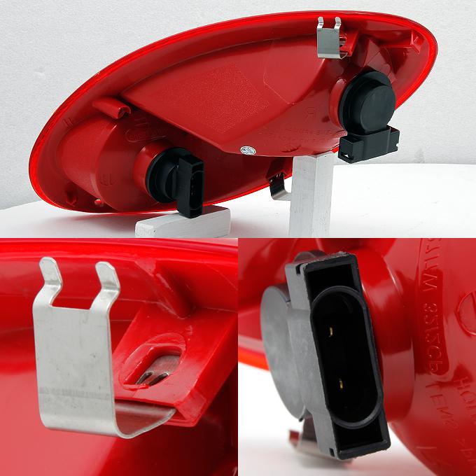 06 10 Chrysler Pt Cruiser Dark Red Rear Taillights Tail