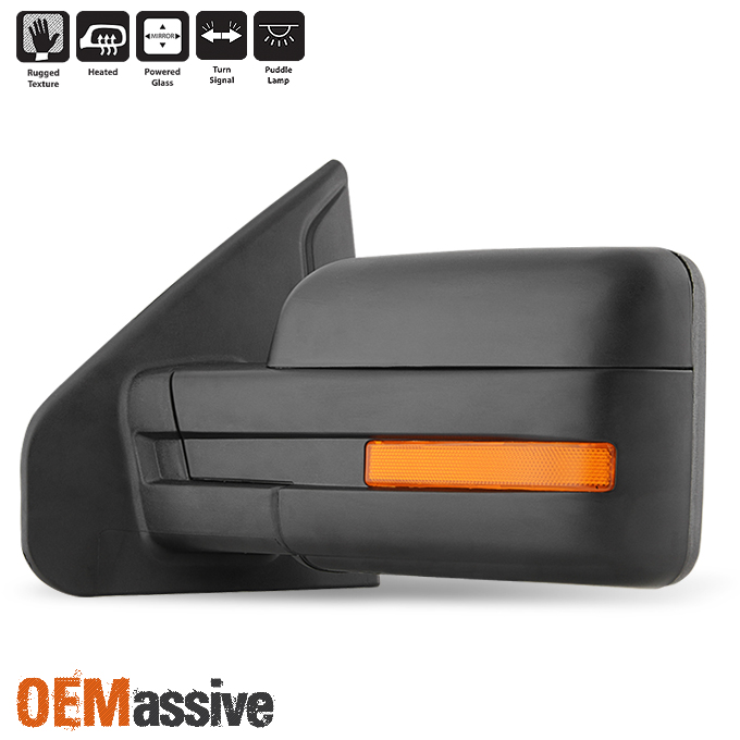 Ford F  F Power Heated Puddle Led Signal Driver Left Side Mirror