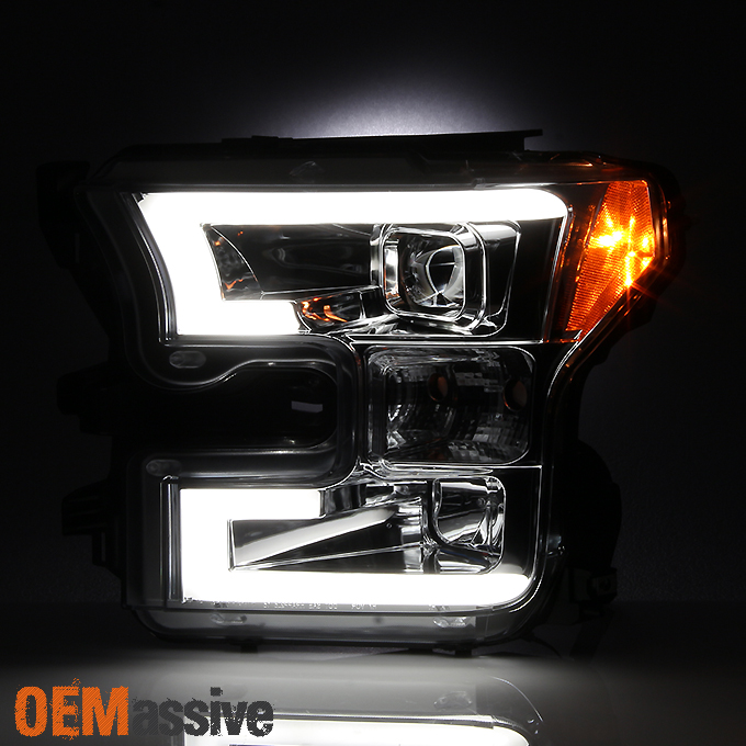 2015 2016 2017 ford f150 f 150 smoked drl led light tube. Black Bedroom Furniture Sets. Home Design Ideas