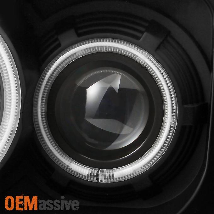 Fit 2007-2011 Dodge Nitro Dual CCFL Halo Black LED Signal