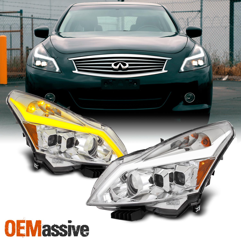 Fits 10 13 G37 G25 Q40 Sedan Switchback Led Turn Signal Projector Headlights Ebay