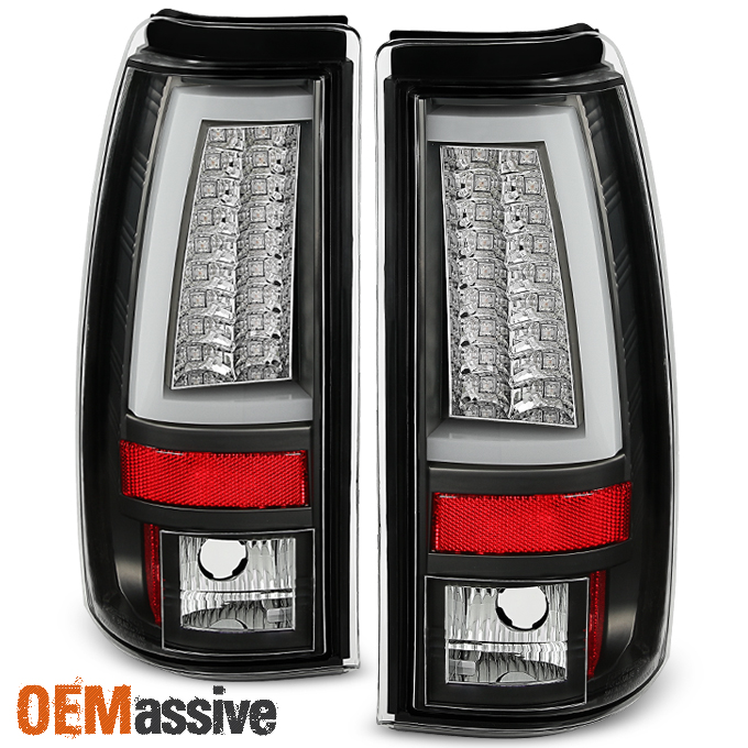 Details About Fits 2003 2006 Chevy Silverado Gmc Sierra 1500 2500hd 3500 Black Led Tail Lights