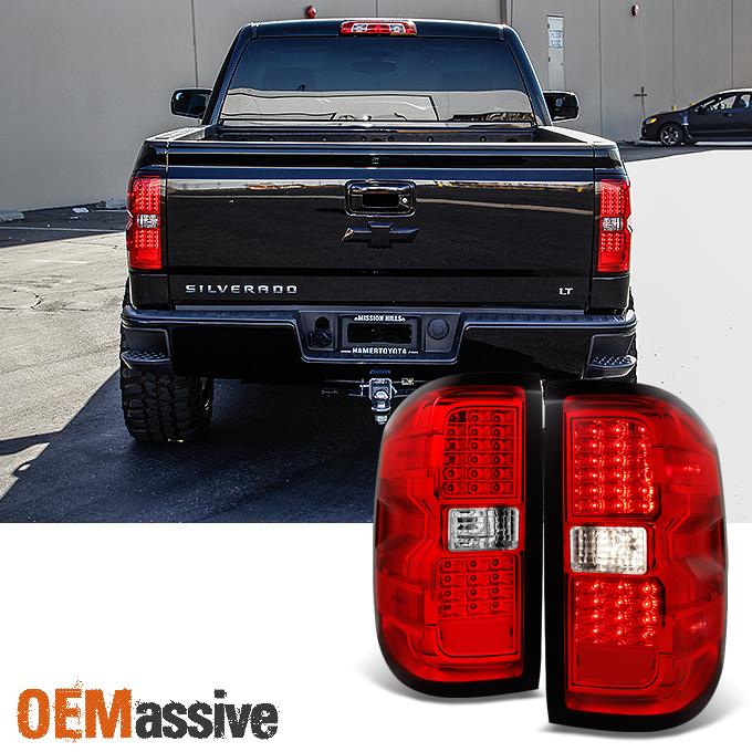 2016 3500hd chevy tail light wiring color fits 2014-2017 chevy silverado/ 2015-2017 gmc sierra 3500hd led tail lights lamp 840960118359 | ebay