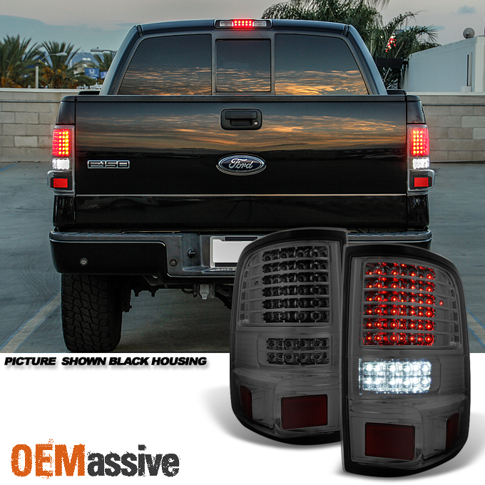 Fit 2004 2005 2006 2007 2008 Ford F150 Full LED Smoked Tail Lights Tail Lamps