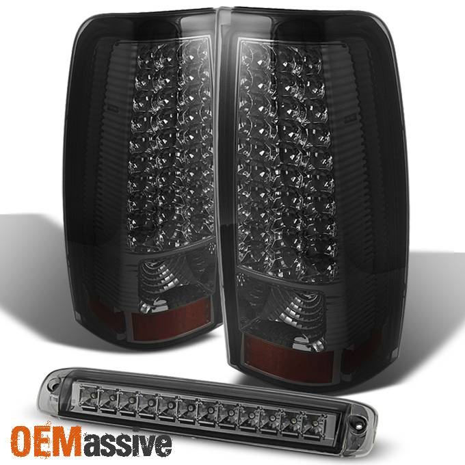 03 06 Chevy Silverado Gmc Sierra Led Smoked Tail Lights