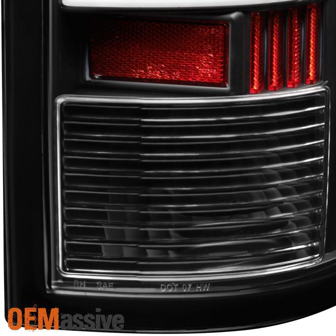 Fits 09 18 Dodge Ram 1500 10 18 2500 3500 Black Led Tail