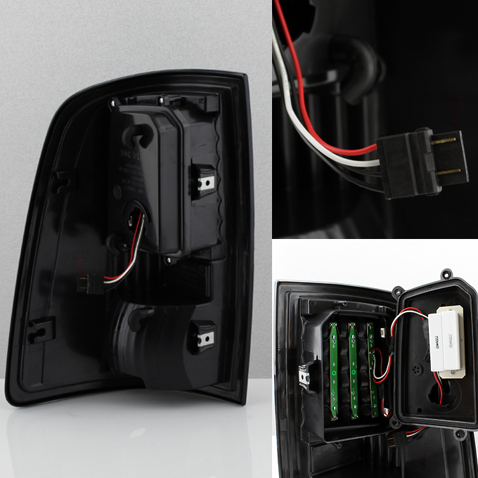 Fits 09 18 Dodge Ram 1500 10 19 2500 3500 Black Led Tail