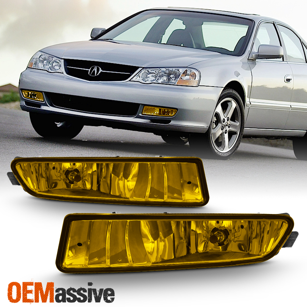 Fits 2002-2003 Acura TL TYPE-S Replacement Bumper Yellow