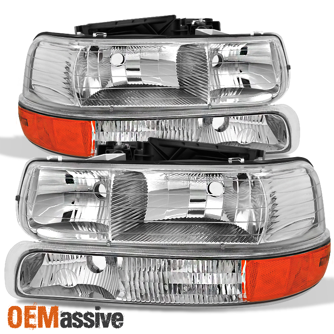 Fit 1999 2002 Chevy Silverado 2000 2006 Suburban Tahoe Headlight Per Signal