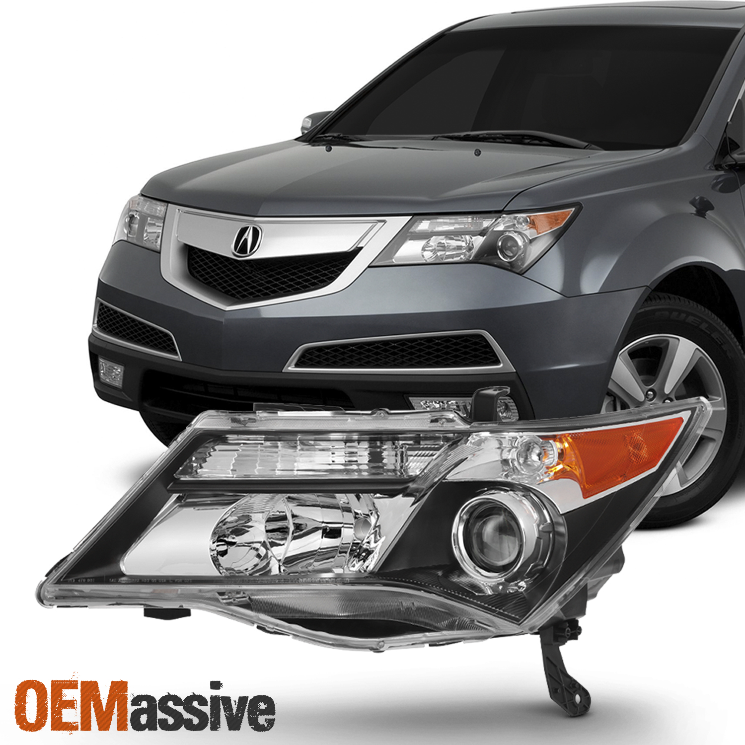 HID Xenon Style Headlights For Acura MDX 2007 2008 2009