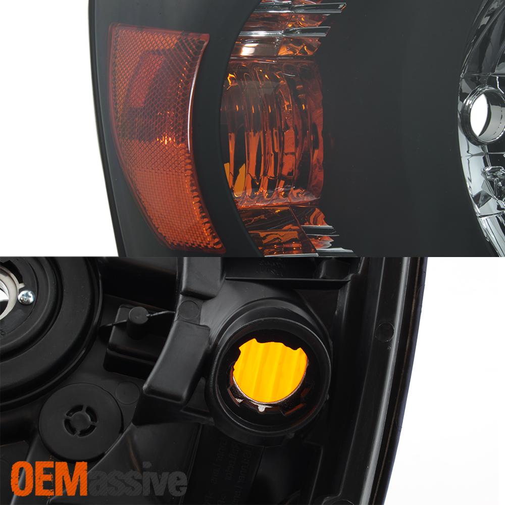 Fits 2004 2005 2006 Toyota Highlander Driver+Passenger Both Side Black Headlight