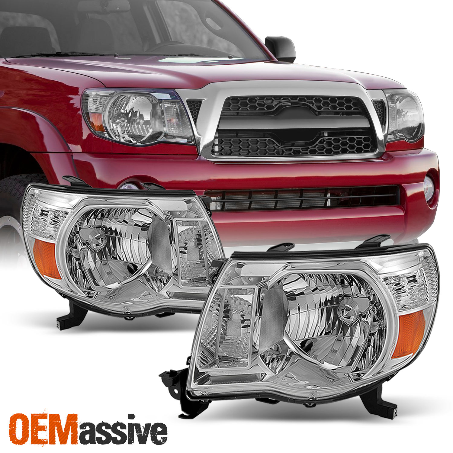 Image Is Loading Fits 2005 2017 Toyota Tacoma Headlights Lamps Lights